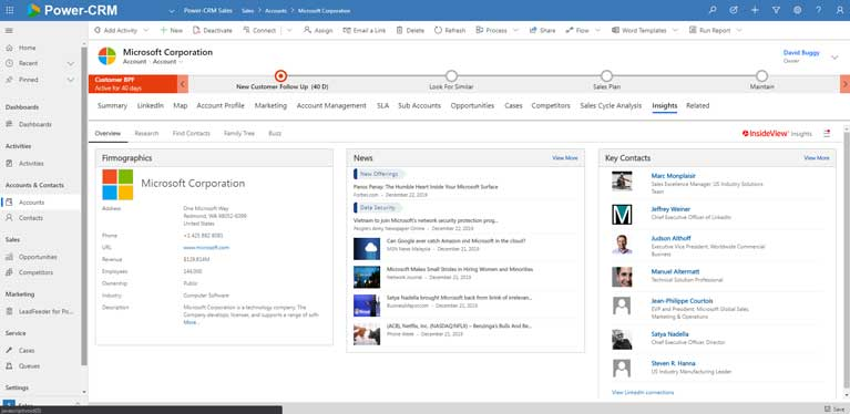 InsideView Insights for CRM